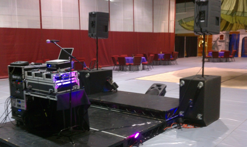 Stage and lighting package.